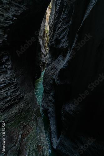 Fotografia, Obraz Impressive Aareschlucht, Gorge Aare, Aare Canyon, gorges de l'Aar, Switzerland