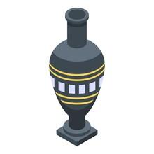 Egyptian Vase Icon. Isometric Of Egyptian Vase Vector Icon For Web Design Isolated On White Background