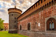 It's Sforza Castle (Castello Sforzesco), A Castle In Milan, Italy. It Was Built In The 15th Century By Francesco Sforza, Duke Of Milan