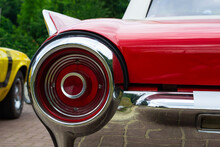 Taillight Of A Red Retro Car. ...