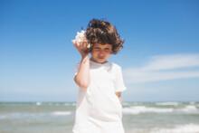 Little Girl Wearing Light T-sh...