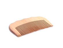 New Wooden Hair Comb Isolated On White