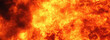 Leinwandbild Motiv Background of fire as a symbol of hell and eternal torment. Horizontal image.