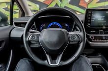 Closeup Of Steering Wheel In I...