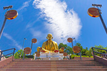 Khruba Sriwichai Monument At Wat Pra Thad Doi Ti, The Famous Temple In Lamphun Province, Northern Thailand..