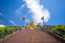 Khruba Sriwichai Monument At Wat Pra Thad Doi Ti, The Famous Temple In Lamphun Province, Northern Thailand..