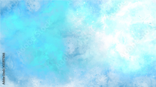 Blue watercolor background for textures backgrounds and web banners design Fototapet