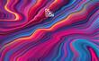 Abstract colorful paint flow background. Wave color Liquid shape. Trendy design.