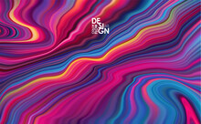Abstract Colorful Paint Flow B...