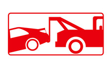 Tow Away Zone Plaque Isolated Vector Illustration In Red