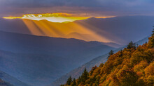 Beautiful Sunrise In Great Smoky Mountains National Park