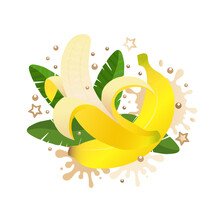 Sweet Banana With Leaves Ans M...