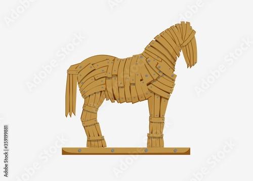 Tableau sur Toile Trojan horse illustration