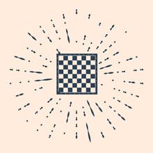 Black Chess Board Icon Isolate...