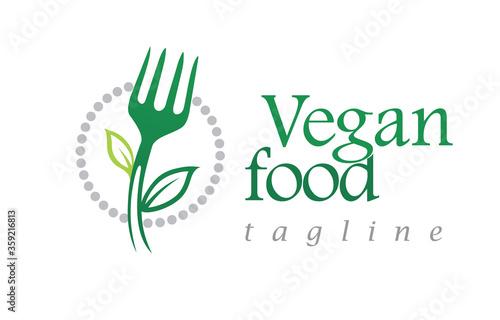 Vegan or healthy food restaurant, nutrition etc Fototapet