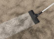 Vacuum Cleaner On A Carpet 3d Rendering