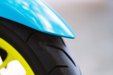 Close Up Of Motorcycle Front G...