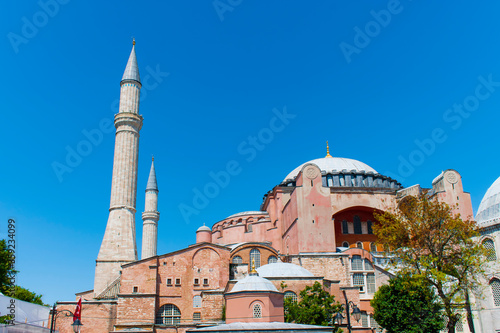 Fototapeta Istanbul, Turkey / July 2019 Mosque of sacred importance in Islam and Christian religion