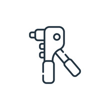 Riveter Vector Icon Isolated O...