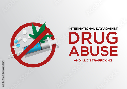 international day against drug abuse and illicit trafficking poster Canvas Print
