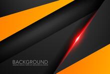 Black And Orange Triangle Geom...