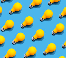 Yellow Light Bulb Pattern With...