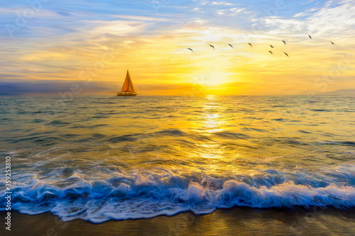 Photo Sailboat Sailing Journey