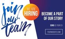 Join Our Team Recruitment Desi...