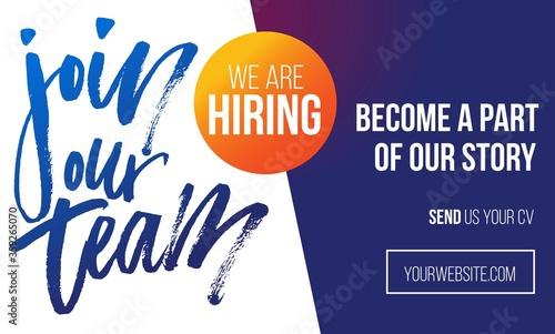 Fotomural Join our team recruitment design poster