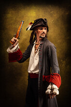 Portrait Of A Pirate, Holding ...