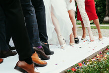 People On The Catwalk Show Off Their Shoes