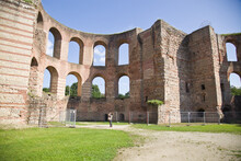 The Imperial Baths(kaiserthermen)in The Roman Town Trier In Rhineland-palatinate,germany.