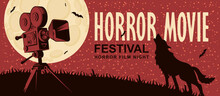 Horror Movie. Vector Poster Fo...