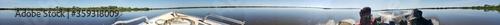 Foto 360 - Passeio de barco na Baia de Sia Mariana em Barão de Melgaço - Mato Gr Fototapet