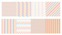 Geometric Seamless Pattern With Summer Pastel Color