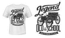 Vintage Car T-shirt Print Mock...