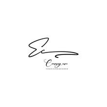 EC Initials Signature Logo. Handwriting Logo Vector Templates. Hand Drawn Calligraphy Lettering Vector Illustration.