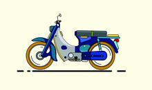 Vector Vintage Motorcycle Icon