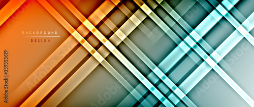 Bright gradient neon lines abstract background Canvas Print