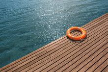 Lifebuoy Ring On Berth Outdoors