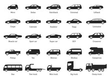 Car Type And Model Objects Ico...