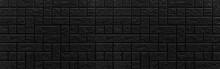 Panorama Of Dark Ceramic Tiles...
