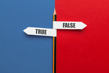 Pencil - Direction Indicator - Choice Of True Or False.