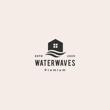 House Water Wave Hipster Vinta...