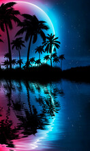 Empty Tropical Background Of N...