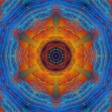 Abstract Fractal Background Wi...