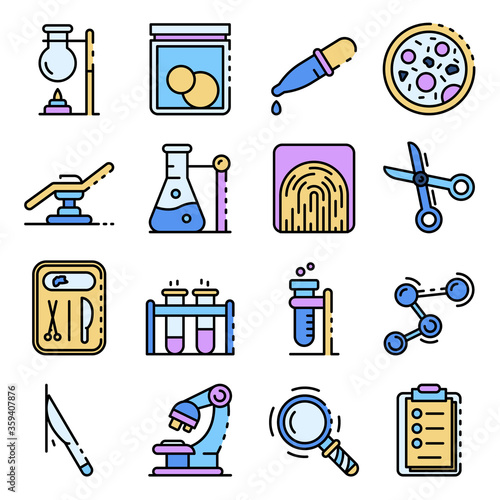 Obraz na plátně Forensic laboratory icons