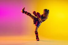 Little Caucasian Girl, Kick Bo...