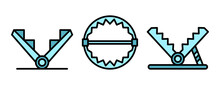 Trap Icons Set. Outline Set Of...