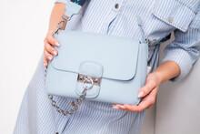 Blue Summer Bag. Shoulder Bag. Girl With A Bag.